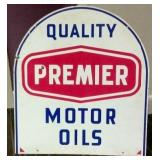 26X30 PORC. PREMIER MOTOR OILS SIGN