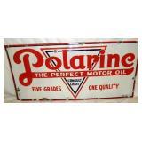 60X28 PORC. POLARINE MOTOR OIL SIGN