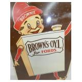 VIEW 2 CLOSEUP BROWNS OYL SIGN W/ ELF