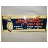 14X6 EMB. INGERSOLL WATCHES SIGN