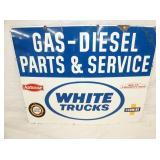 37X28 PORC. WHITE TRUCKS PARTS & SERVICE SIGN