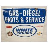 VIEW 2 CLOSE UP WHITE TRUCKS GAS/DIESEL