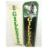 VIEW 4 VERTICAL GILLETTE TIRES SIGNS