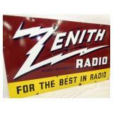 VIEW 2 CLOSE UP ZENITH RADIO PORC. DEALER SIGN