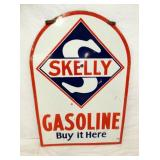 28X40 PORC. SKELLY GASOLINE TOMBSTONE SIGN