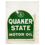VIEW 2 OTHERSIDE RARE FLANGE QUAKER STATE TOMBSTONE
