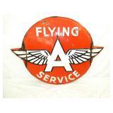 62X48 PORC. EMB. FLYING A SERVICE SIGN