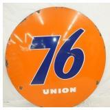 5FT. PORC. UNION 76 SIGN