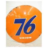 VIEW 2 CLOSE UP PORC. UNION 76 SIGN