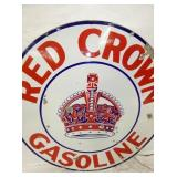VIEW 2 CLOSE UP RED CROWN GAS SIGN