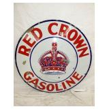 VIEW 3 OTHERSIDE PORC. RED CROWN GAS SIGN