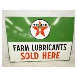 42X30 1964 PORC. TEXACO FARM LUBRICANTS SIGN