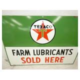 VIEW 2 CLOSE UP TEXACO FARM LUBRICANTS DEALER SIGN