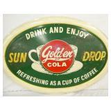 43X28 EMB. GOLDEN COLA SUNDROP SIGN