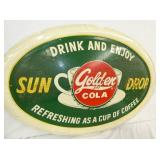 VIEW CLOSE UP SUNDROP GOLDEN COLA OVAL SIGN