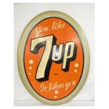 30X40 1947 EMB. 7-UP SIGN