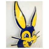 VIEW 3 CLOSE UP DIE CUT EMB. BUNNY SIGN