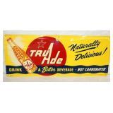 30X12IN. 1954 EMB. TRUADE SODA SIGN