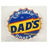 VIEW 2 DADS ROOT BEER CAP SIGN