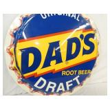 VIEW 3 DADS ROOT BEER DRAFT CAP SIGN