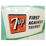 VIEW 2 CLOSE UP 7UP FIRST AGAINST THIRST