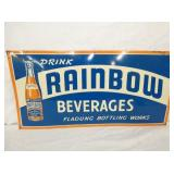 24X12 EMB. RAINBOW BEVERAGES SIGN