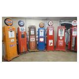 GROUP PHOTO VARIOUS GAS PUMPS