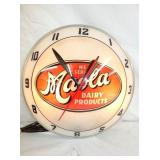 15IN. MAOLA  DAIRY DOUBLE BUBBLE CLOCK