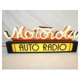 24X19IN. MOTOROLA AUTO RADIO NEON