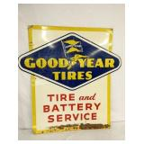 36X36 EMB. GOODYEAR TIRE & BATTERIES SIGN
