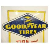 VIEW 2 CLOSE UP TOP GOODYEAR TIRES & BATTERY