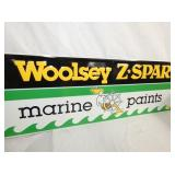 VIEW 2 WOOSLEY MARINE PAINTS EMB. SIGN