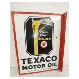18X23 PORC. TEXACO FLANGE SIGN