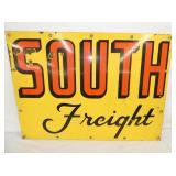 36X26 PORC. SOUTH FREIGHT SIGN