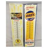 7X27 DIET DADS & DADS ROOT BEER THERMS.