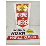 17X30 1971 PENNZOIL LUBRICATION SIGNS