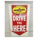 17X30 PENNZOIL LUBRICATION SIGN