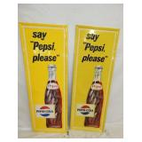 17X47 EMB. PEPSI PLEASE VERTICAL SIGNS