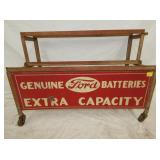 34X24 ORG. FORD BATTERIES RACK