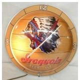 15IN. IROQUOIS BEER DOUBLE BUBBLE CLOCK