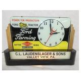 18X13 RARE FORD FARMING EQUIPMENT LIGHTED SIGN