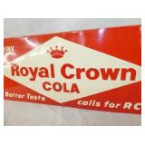 VIEW 2 CLOSE UP ROYAL CROWN COLA EMB. SIGN