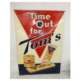 20X28 EMB. TIME OUT TOMS PEANUT SIGN