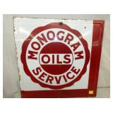 22X22 PORC. MONOGRAM OILS SERVICE SIGN