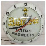 15IN BILTMORE DAIRY DOUBLE BUBBLE CLOCK