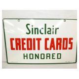 23X14 PORC. SINCLAIR CREDIT CARDS