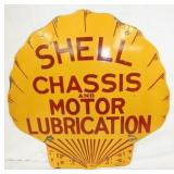 25X25 RARE PORC. SHELL CHASSIS SIGN