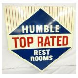 30X30 1963 HUMBLE REST ROOMS SIGN