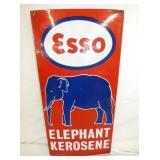 12X24 PORC. ESSO ELEPHANT KEROSENE SIGN