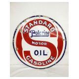 30IN PORC. STANDARD POLARINE OIL SIGN